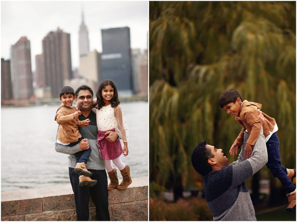 family photos at Gantry Plaza State Park Long Island NYC