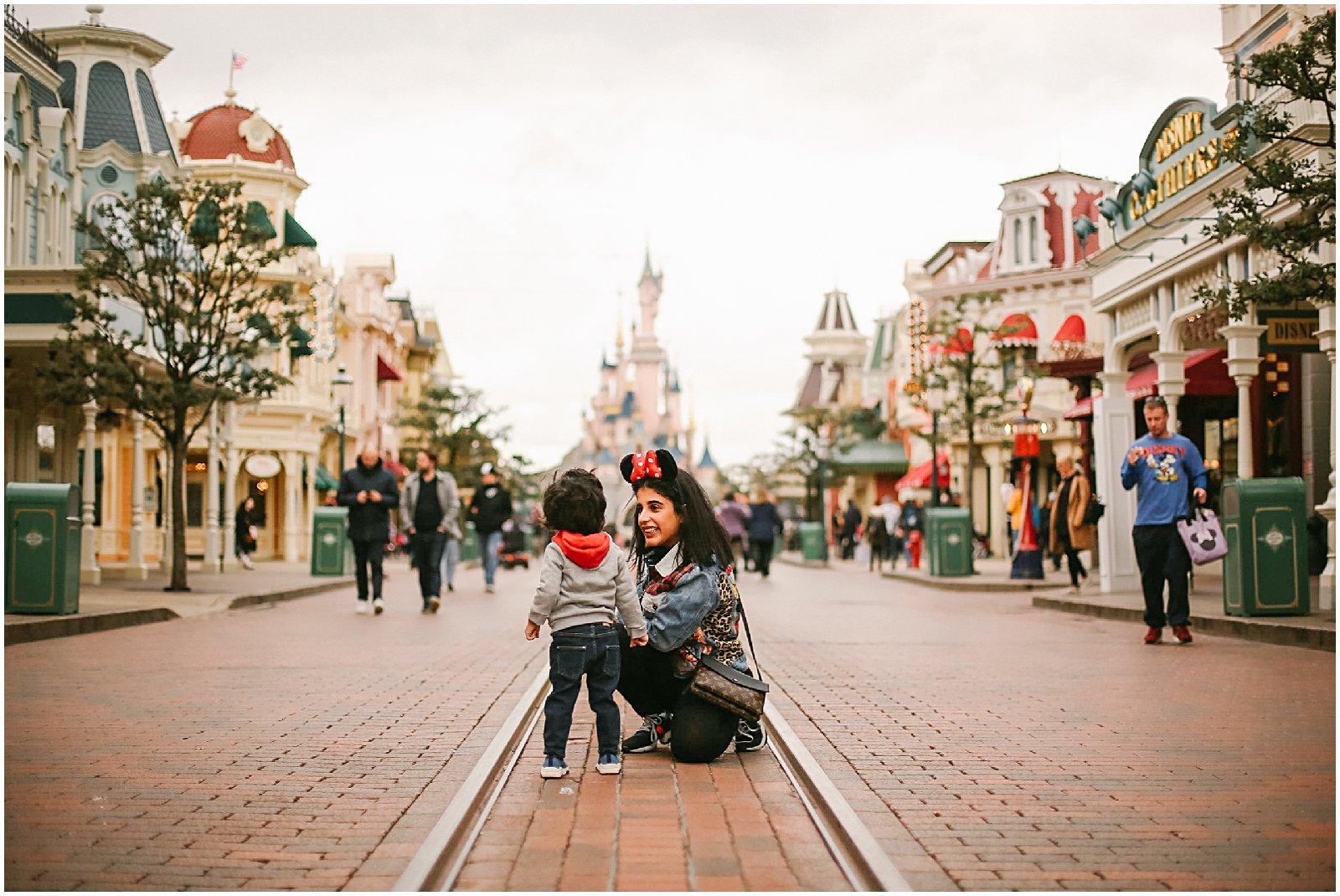 family photographed at Disneyland Paris photoshoot with France photographer helena woods