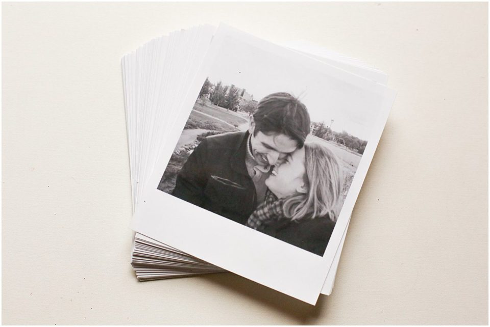 couple kissing in polaroid photography from LALALAB