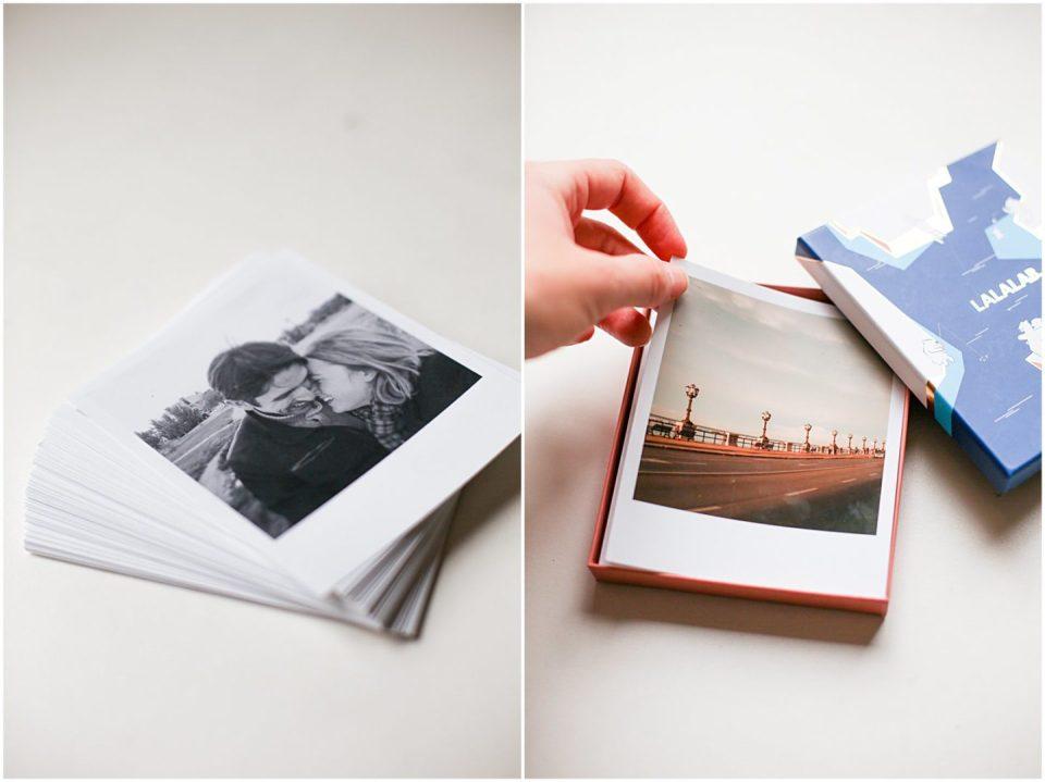 LALALAB cute lalabox with printed polaroid photos