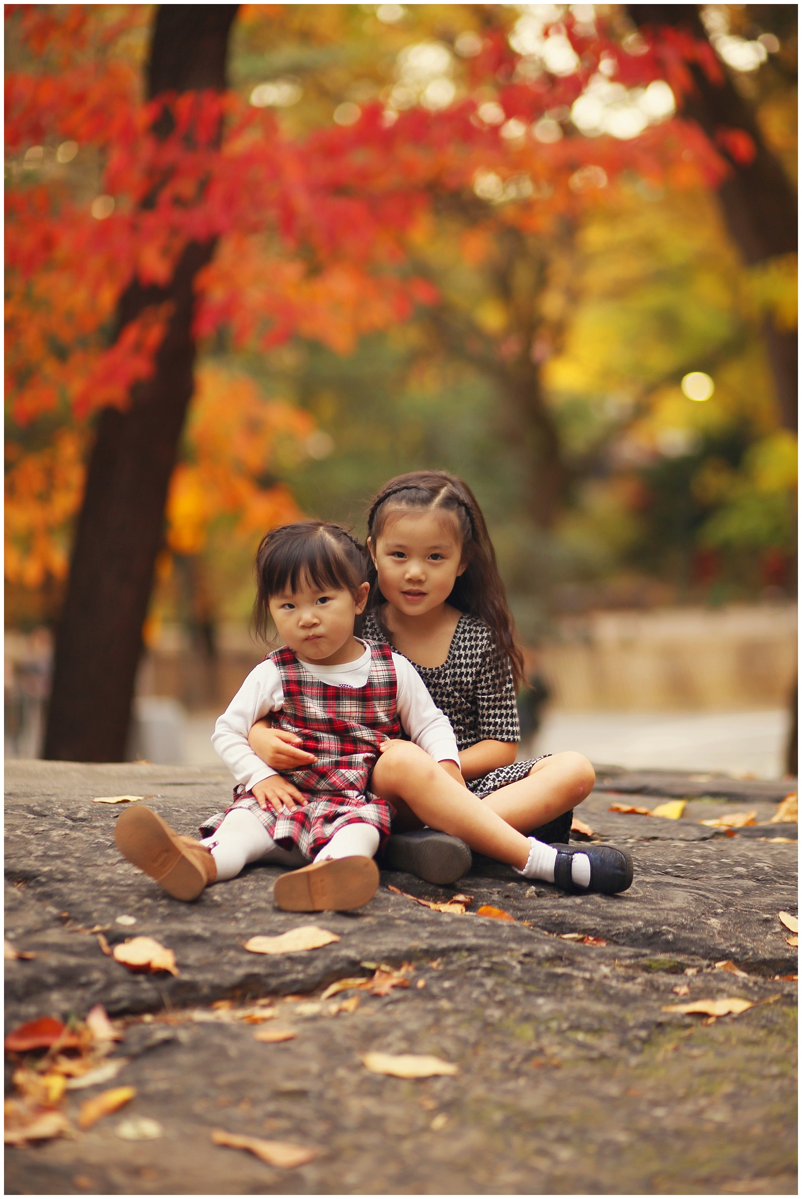 nyc family photographer fall photos with kids