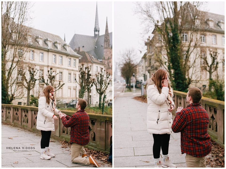 Amber Mariano gets engaged in Strasbourg France | Helena Woods Photography