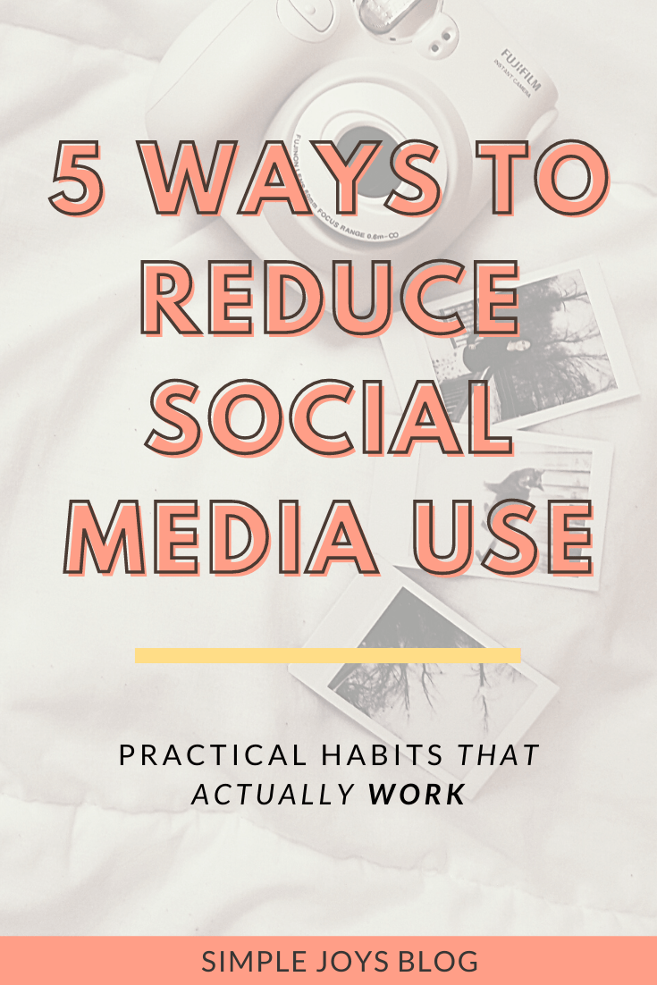 how to actually reduce screen time and social media use