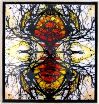 e simetría doble caja luz