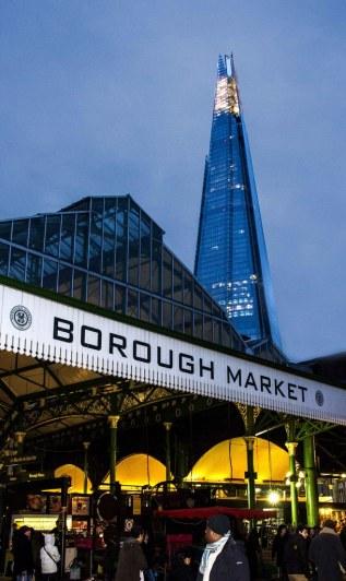 borough market sharf southbank london uk
