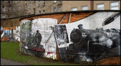Trains on a Wall