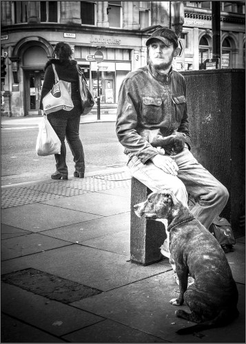 man and dog fl&web