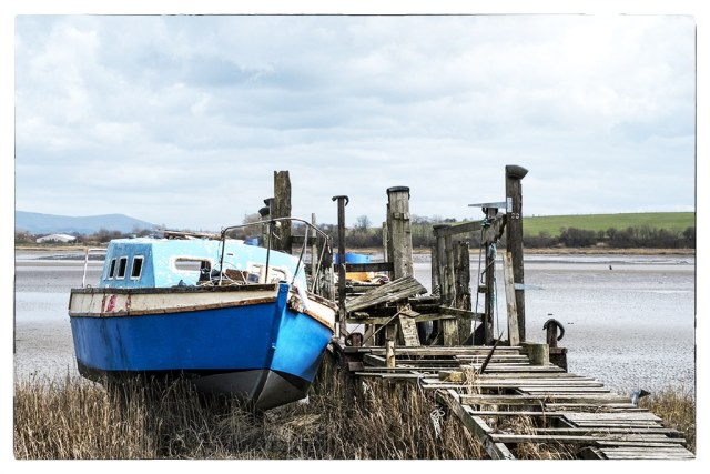 blue boat and jetty 1