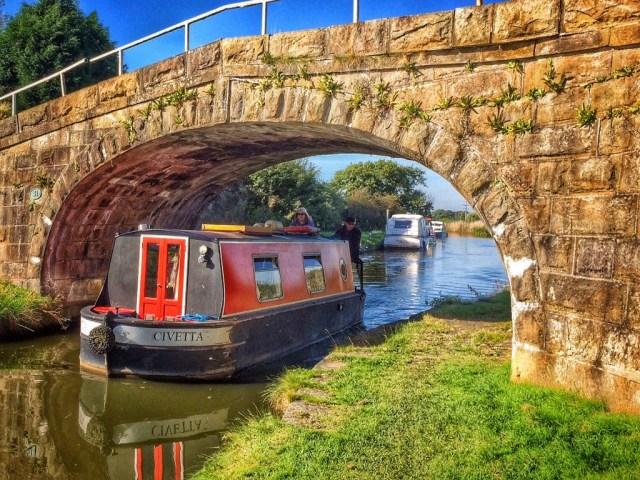 under canal bridge