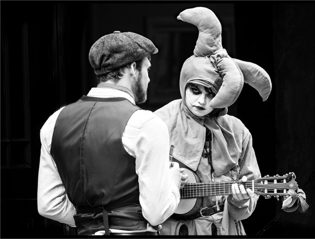 Jester with Troubadour