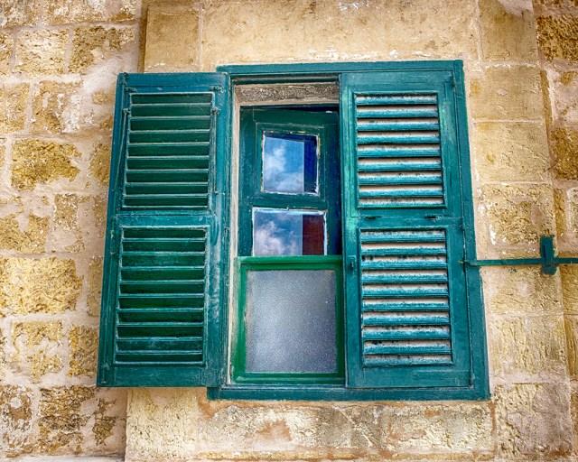 window green shutters malta valletta