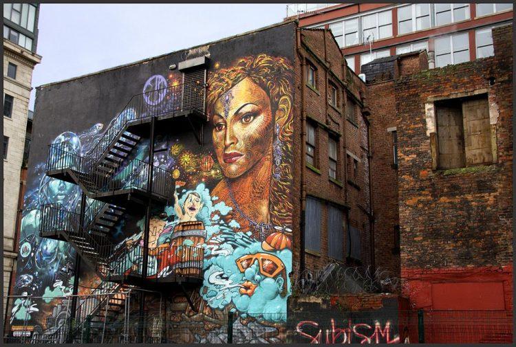in Manchester Northern Quarter graffiti