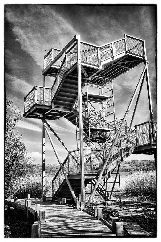 Skytower leighton Moss RSPB reserve