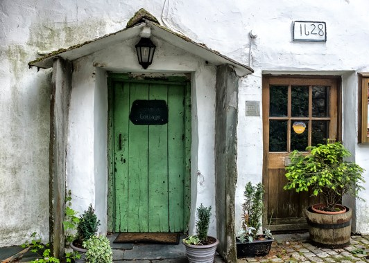 Honister Cottage Door Borrowdale Seatoller lake District