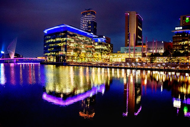 Media City Salford Quays Manchester BBC ITV studio