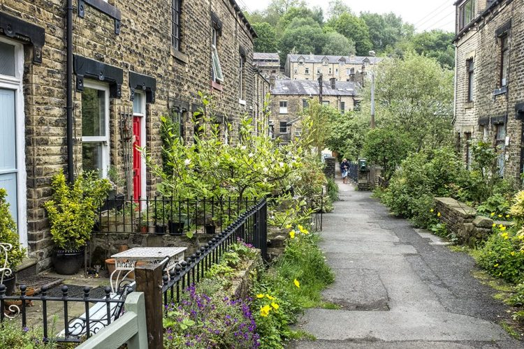 lane Hebden bridge yorkshire village