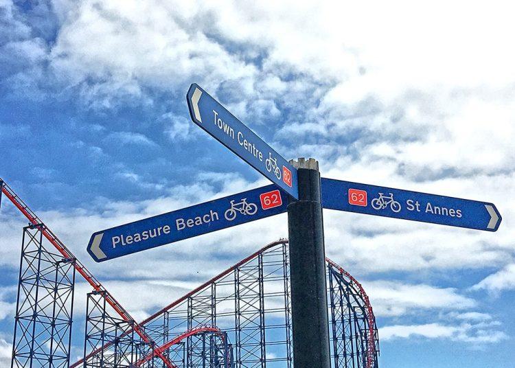 Pleasure Beach sign Blackpool