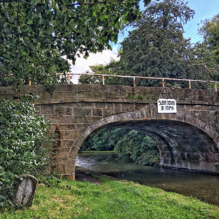 Slow Down Bridge 32 Lancaster canal