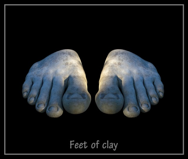 Feet of Clay Bellahouston Park Glasgow sculpture