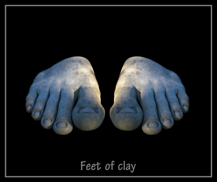 Feet of Clay Bellahouston Park Glasgow sculpture