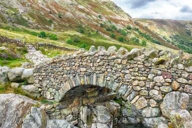 Bridge at Styhead Cumbria Lake District