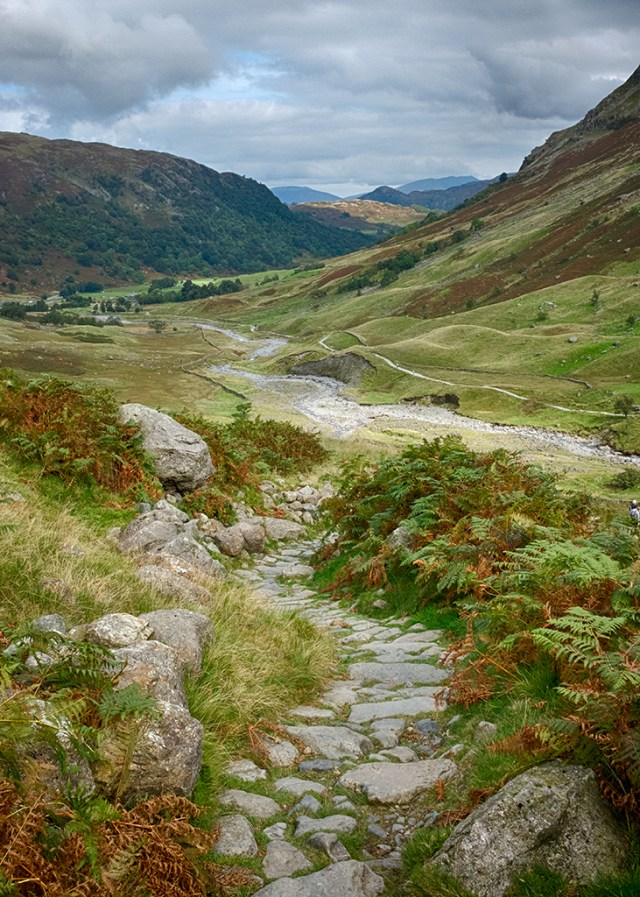 Our Path Styhead Borrowdale valley Cumbria Lake District