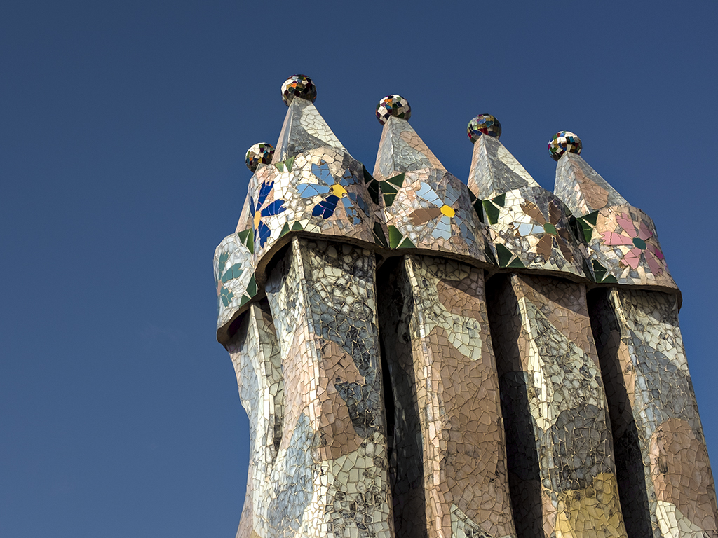 Chimney Pots Gaudi casa batllo Barcelona