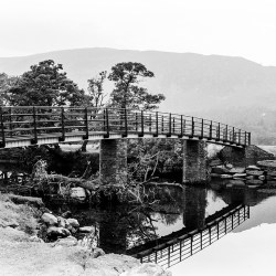 "reflections The ""Chinese"" Bridge to Manesty Borrowdale Derwentwater Lake District"
