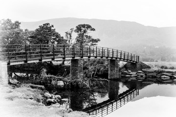 """reflections The """"Chinese"""" Bridge to Manesty Borrowdale Derwentwater Lake District"""