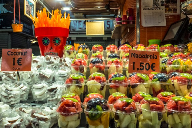 Healthy Snacks Barcelona market La Boqueria