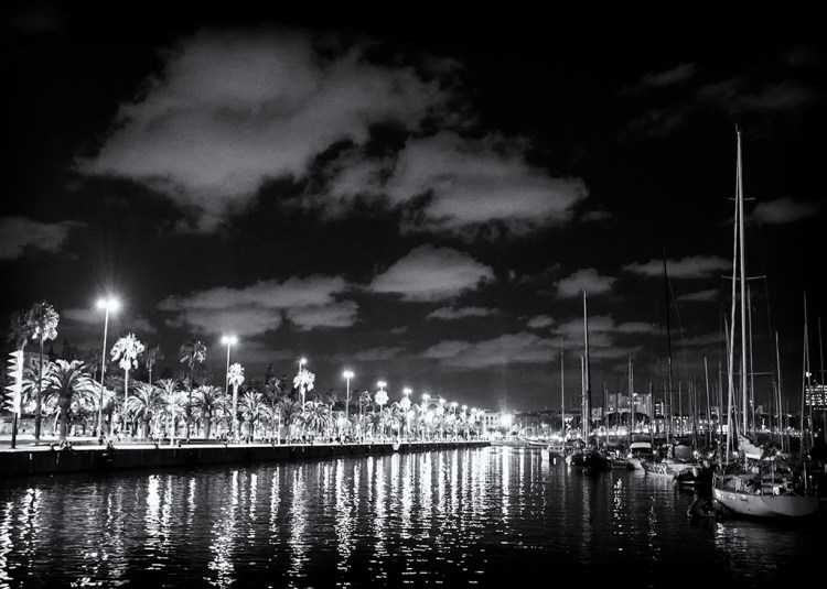 Barcelona Harbour Lights