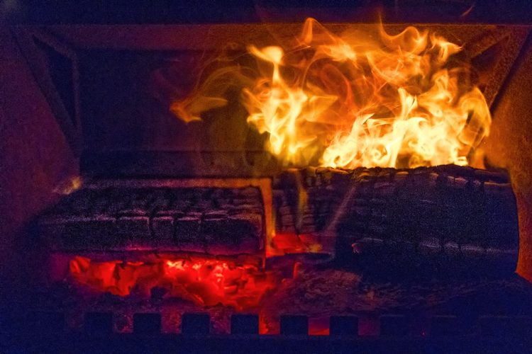 Fire log-burner, home,