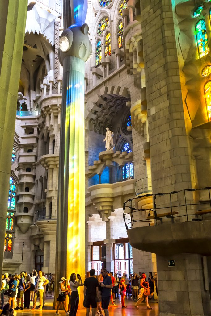 Colours of Light Sagrada Familia Barcelona cathedral Gaudi