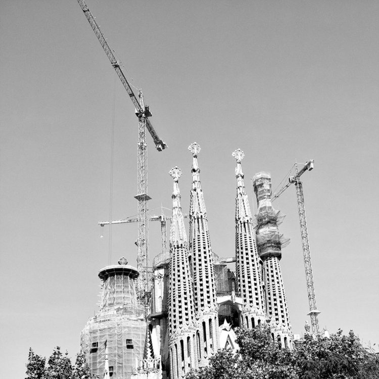 Construction Sagrada Familia Gaudi Barcelona