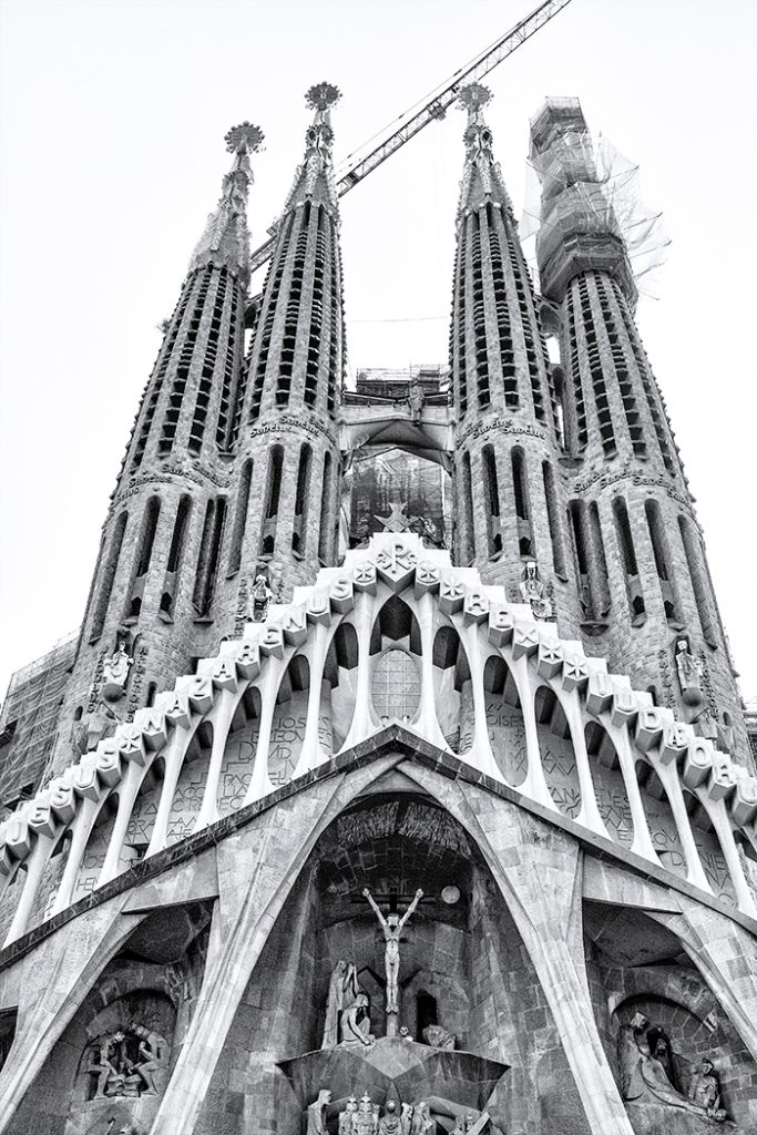 Four Towers Construction Sagrada Familia Gaudi Barcelona