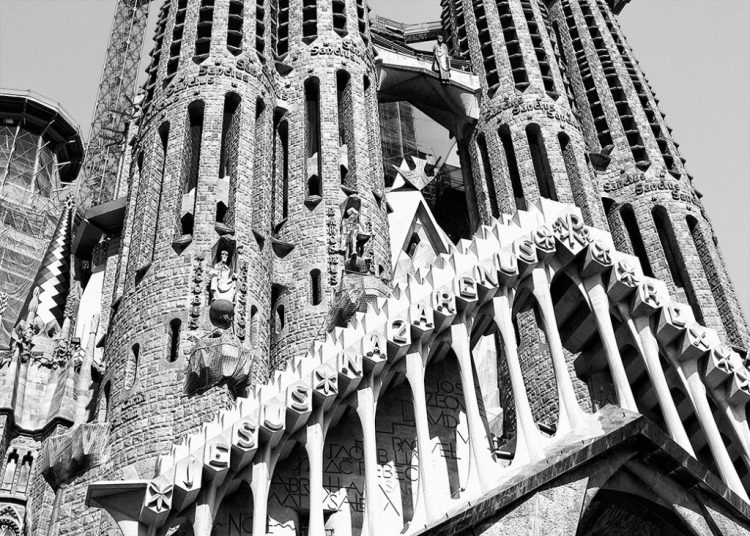 Sagrada Familia Detail construction Gaudi barcelona