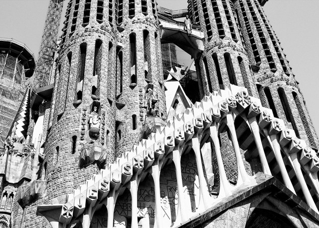 Sagrada Familia Detail construction Gaudi barcelona