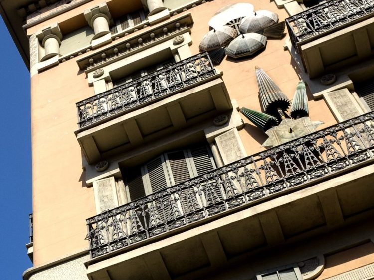 Parasols on a Wall Barcelona