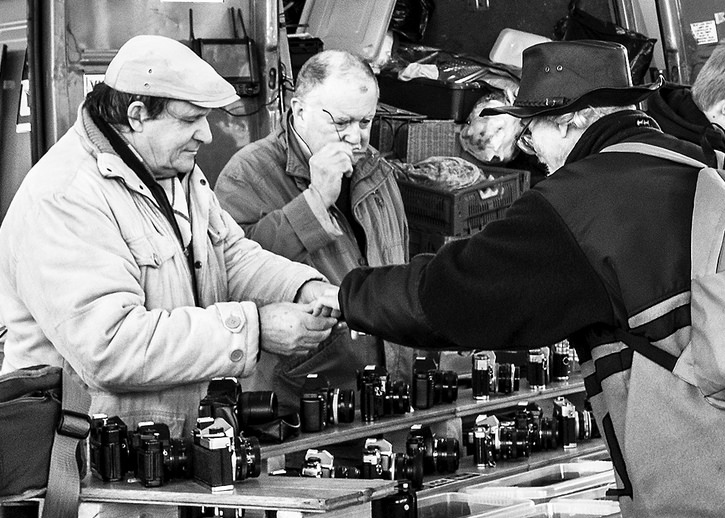 Camera Enthusiasts Preston Market monochrome black&white