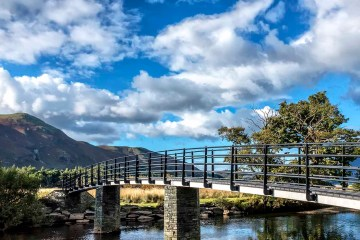 """The """"Japanese Bridge"""" at Borrowdale Lake District Christopher Robin quote"""