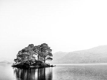 Island on Derwentwater Black&White monochrome Lake District