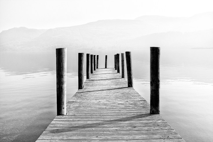 High Brandelhowe Jetty Derwentwater Lake District Cumbria English