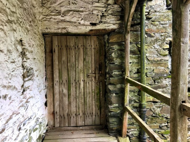 16th Century Barn Door Townend Troutbeck Lake District Cumbria
