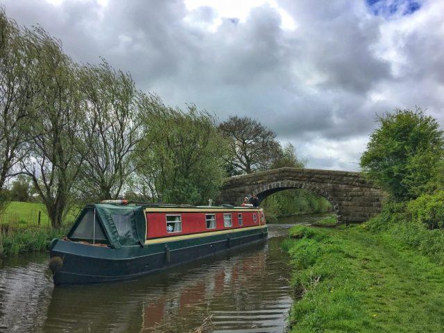 Narrowboat Woodplumpton, catforth, Lancaster Canal Lancashire rural