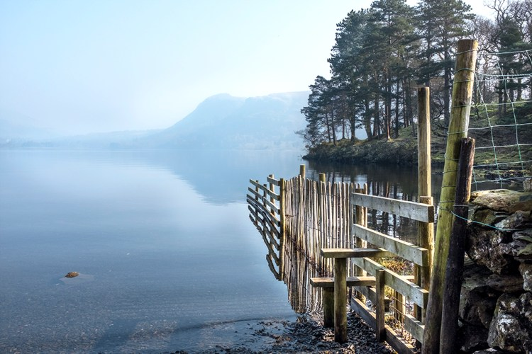 Lakeside Stile Derwentwater Lake District Cumbria walk
