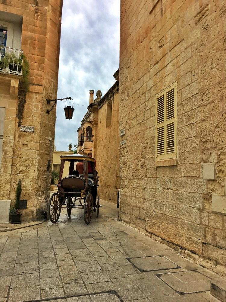 Mdina Malta Silent city oddball horse carriage