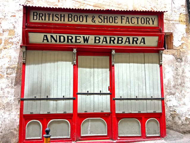 British Boot & Shoe Factory in Valletta Malta shop street
