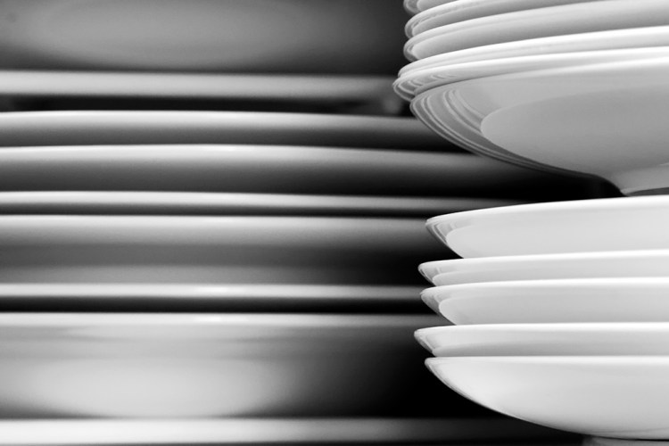 Plates on Racks monochrome kitchen everyday object monochrome
