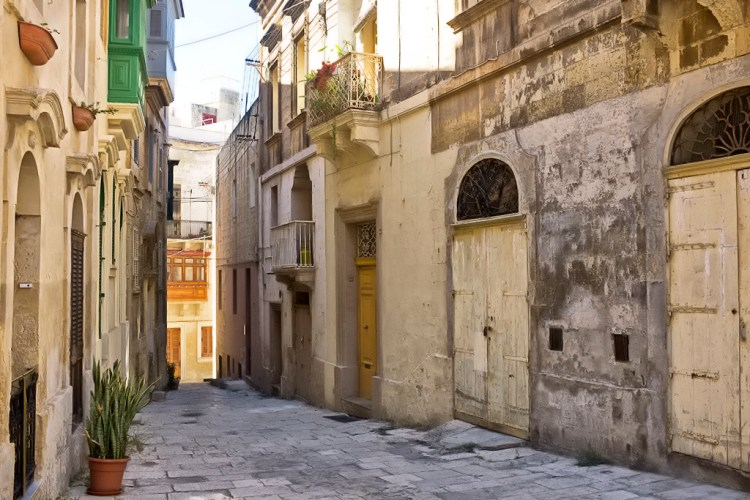 Yellow Doors in Birgu Valletta Malta