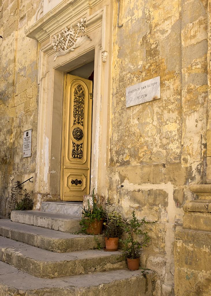 Door of Parish Museum Birgu Valletta Malta